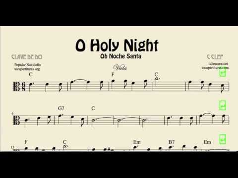 O Holy Night Sheet Music for Viola Noche Santa Christmas Carol