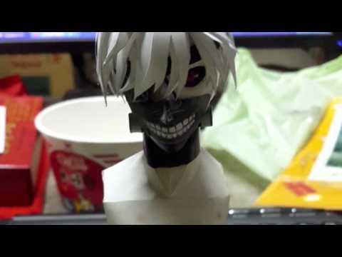 Papercraft Paper Model #1 Tokyo Ghou 東京喰種 Kaneki Ken