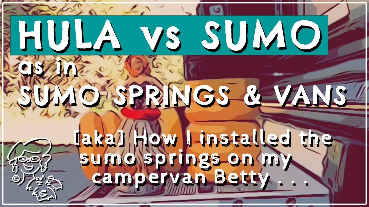 I install SUMO SPRINGS on my Hymer Aktiv PROMASTER campervan//let me
