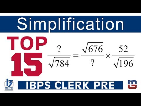 Top 15 | Simplification | Maths | IBPS Clerk PRE 2017