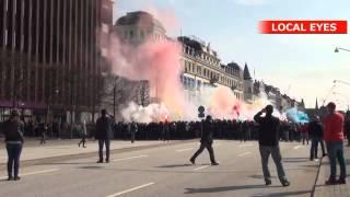 Svensk fodboldfan dræbt: Uroligheder i Helsingborg