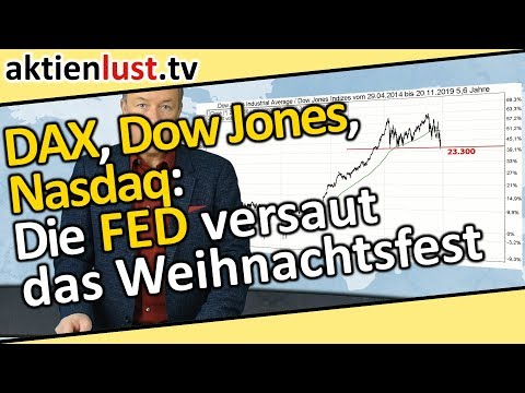 DAX, Dow Jones, Nasdaq: Die FED versaut das Weihnachtsfest