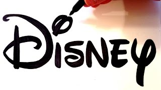 How to Draw the Disney Logo Freehand