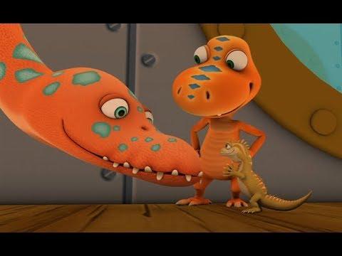 Поезд динозавров Элмер Эласмозавр в пустыне Мультфильм для детей про динозавров
