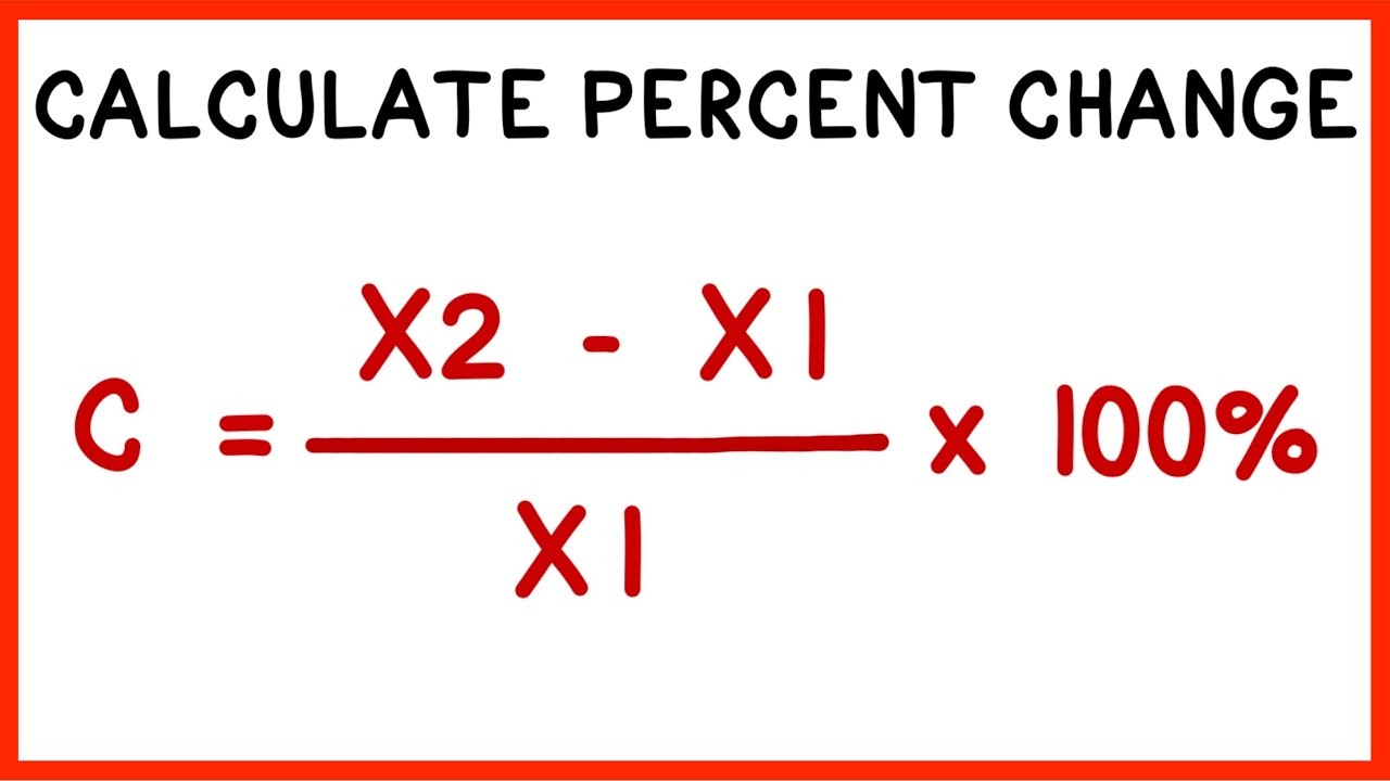 How to Calculate Percent Change
