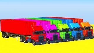 Мультики про Машинки - Большие Грузовики Автовозы Трейлеры Мультики для Детей