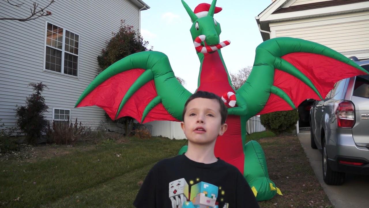 Inflatable Christmas Dragon.Santa Riding A Giant Elephant A Christmas Dragon And Other Inflatables