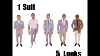 How to Wear a Grey Suit ( one suit five looks)
