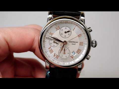 eb580366a47 Montblanc Star Chronograph GMT Men's Watch Review Model: 36967 - YouTube