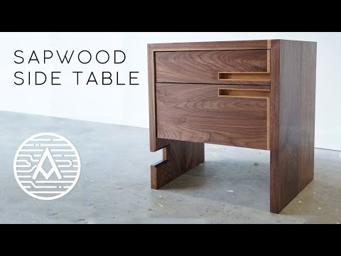 Walnut Side Table With Sapwood Inlay