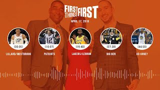 First Things First audio podcast (4.17.19)Cris Carter, Nick Wright, Jenna Wolfe   FIRST THINGS FIRST