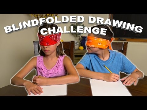 Thumbnail: BLINDFOLDED DRAWING CHALLENGE!!!