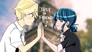 "Gambar cover ""JUST A FRIEND?"" - COMPLETE STORY - Miraculous Ladybug Comic Dub Compilation 