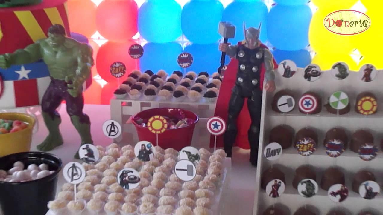 Kit Locaç u00e3o Decoraç u00e3o de Festa Os Vingadores (The Avengers) Donarte YouTube # Decoração De Festa Os Vingadores
