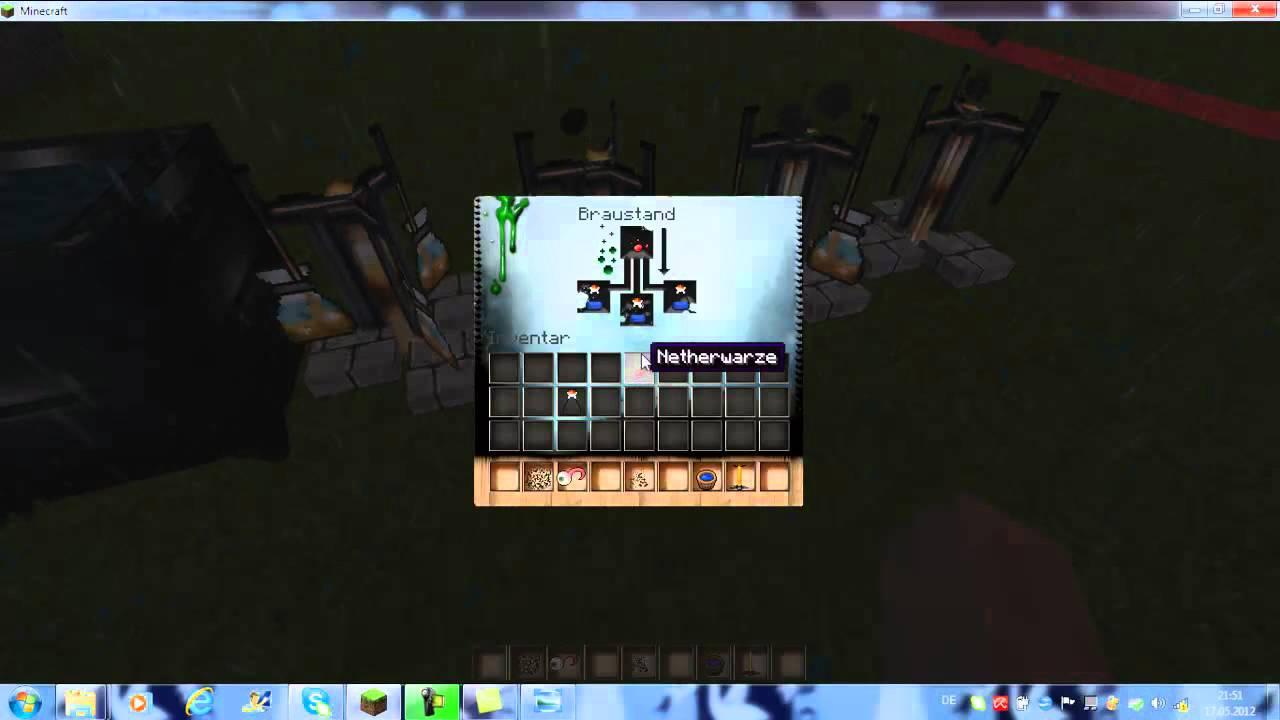 Minecraft GlasflaschenBraustandTrank der Vergiftung