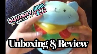 Unboxing & Review of my Giveaway Squishies I Won   Squishy Kiosk   Happy Holiday's