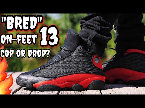 """BRED"" AIR JORDAN 13 ON-FEET! YOU SLEEPING ON THESE!?"