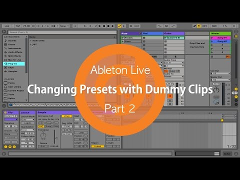 Automatically Change Synths Keyboard patches in Ableton Live - Template