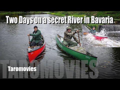 Two Days Canoe Tour On A Secret Bavarian River / Bushcraft Survival 4K Video