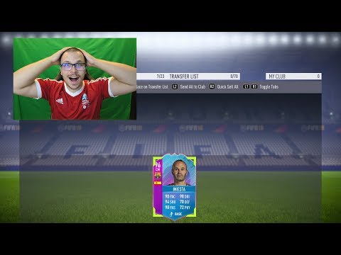 FIFA 18 I GOT END OF ERA SBC INIESTA 96! THAT PACE IS CRUCIAL