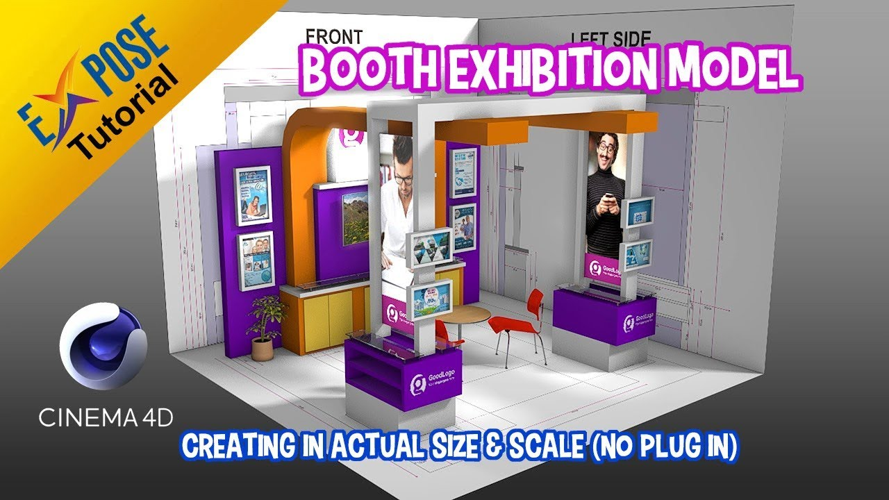 Exhibition Stall Height : Cinema d tutorial actual size and scale exhibition stand