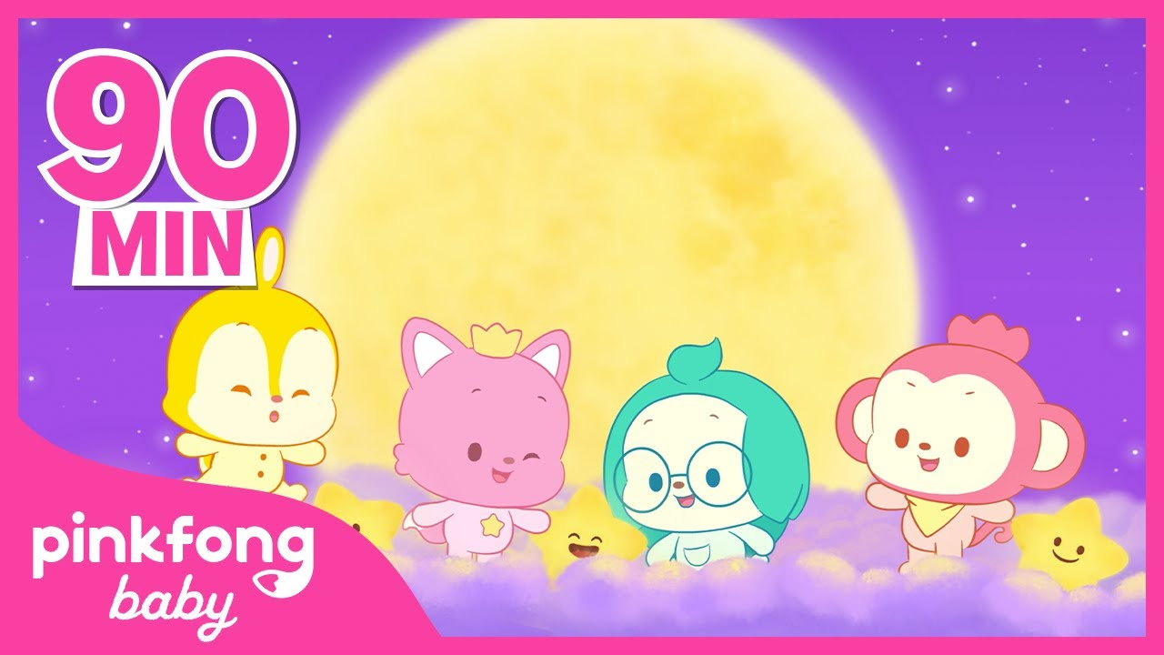 【90min】 Bedtime Lullabies and Sensory music | Sleep Sounds for Baby | @Pinkfong! Baby Friends