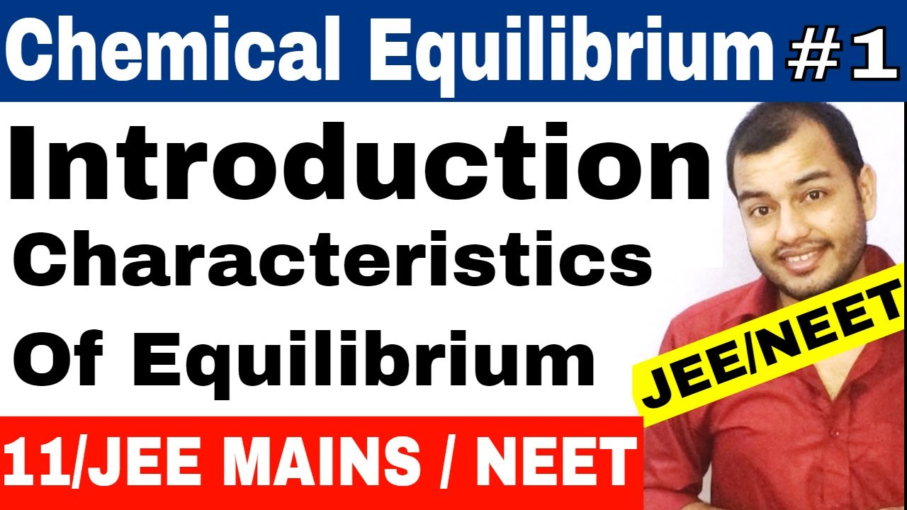 Class 11 chapter 7 | Equilibrium | Chemical Equilibrium 01 : Introduction |  IIT JEE MAINS / NEET