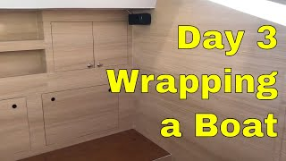 Boat Wrap Day 3 Di-noc Material Rm wraps