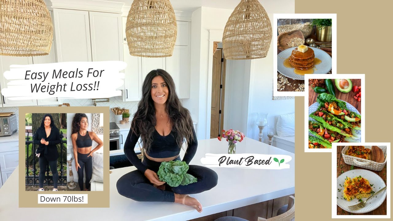 Full Day Of Easy Meals For Weight Loss//Plant Based //The Starch Solution