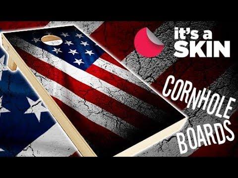 Cornhole Skin Installation Corn Hole Board Wraps