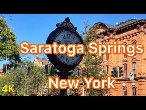 Small Towns In USA: Driving Downtown Saratoga Springs, New York (NY) USA
