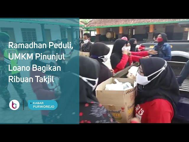 Ramadhan Peduli, UMKM Pinunjul Loano Bagikan Ribuan Takjil