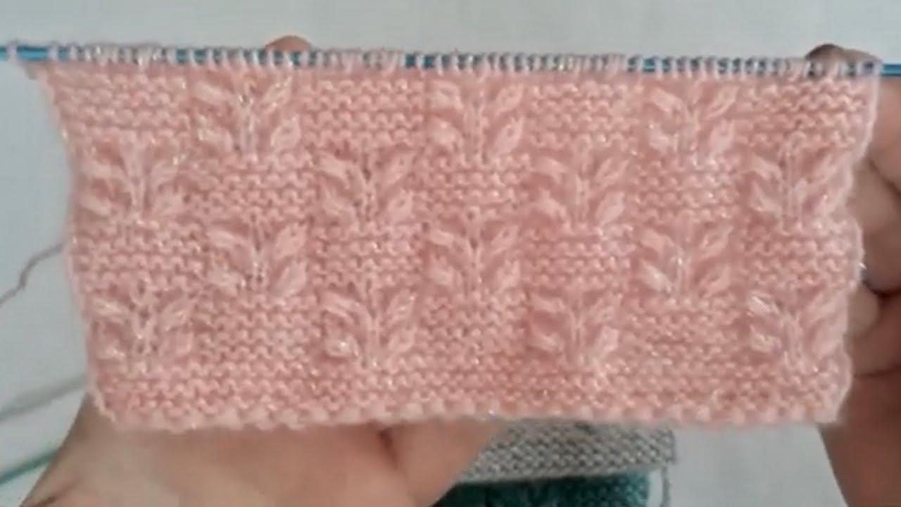 Sümbül çiçeği örgü modeli yapılışı / Strickmuster / knitting patterns