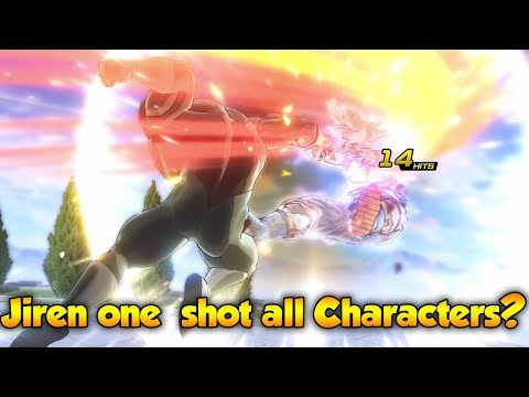Can Jiren One Shot Entire Xenoverse 2 Character Roster?! Power Rush K.O! - Dragon Ball Xenoverse 2