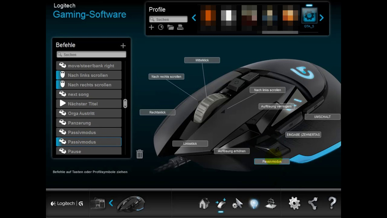 Gaming Tasten mit Logitech Gaming Software einstellen