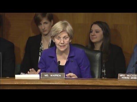 Sen. Elizabeth Warren - Aging Committee Hearing on Alzheimers Research