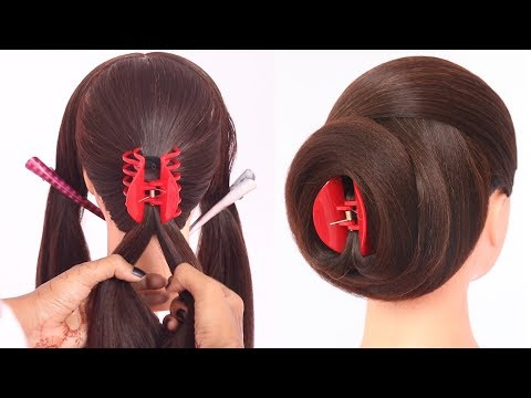 new clutcher hairstyle || hairstyle for girls || updo hairstyle || teen hairstyle || juda hairstyle thumbnail