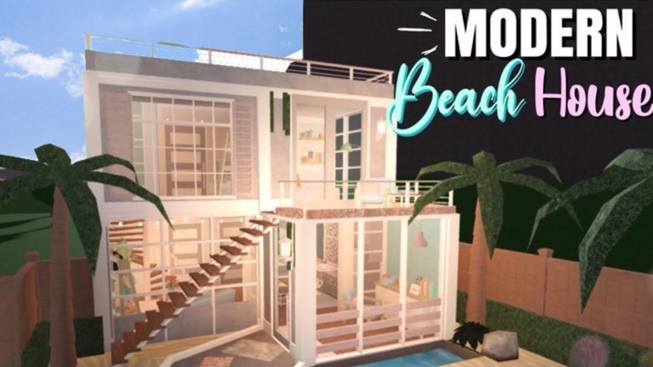 Bloxburg : : Modern Beach House - YouTube