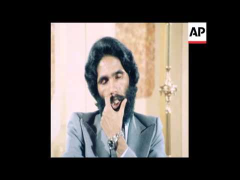 SYND 15 5 77 MOHAMMED SALEM OULD SALEK PRESS CONFERENCE IN ARABIC ON POLISARIO