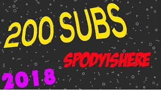 Thanks for 200 Subscribers!