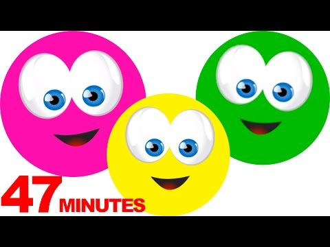 Learn Colors, Teach Colours, Baby Toddler Preschool Nursery Rhymes
