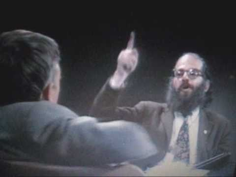 Allen Ginsberg reads poetry to William Buckley