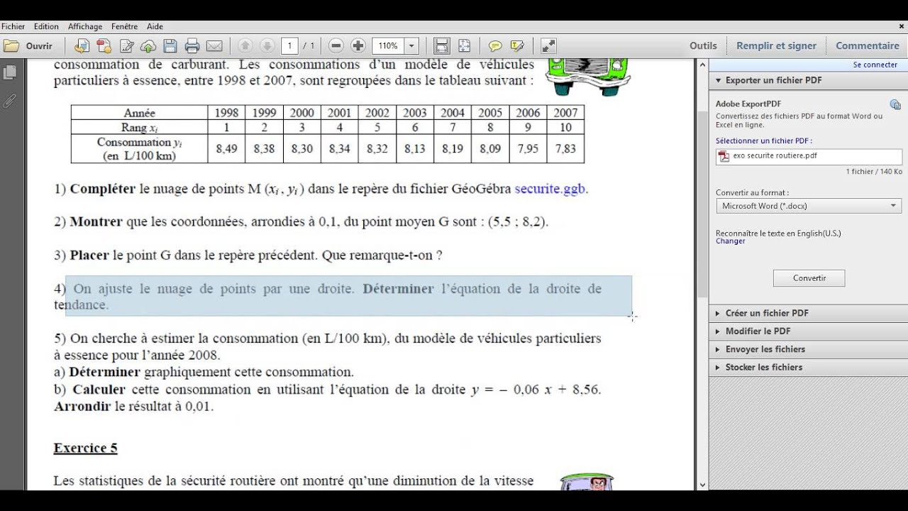Statistique a 2 variable - YouTube