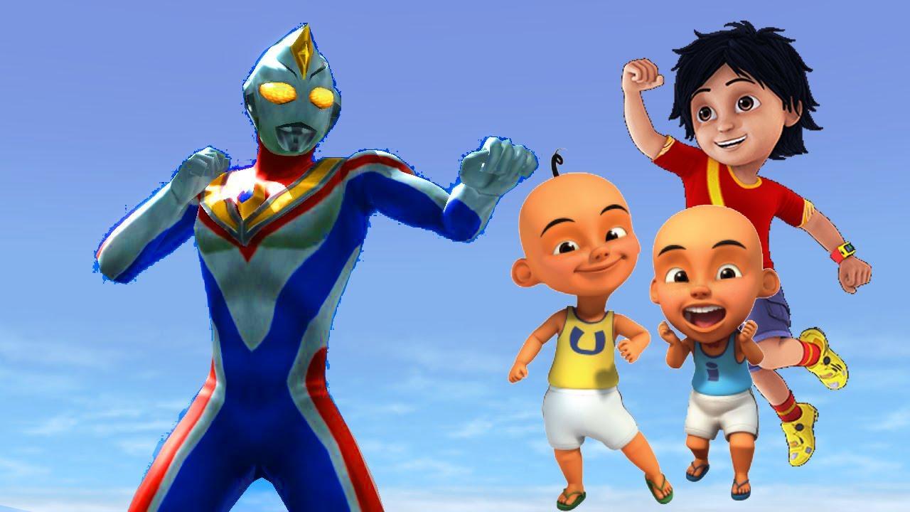 Upin Ipin Shiva Antv Vs Ultraman Dyna Super Animasi Cartoon Movie