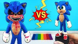 Страшный СОНИК ЗЛАЯ форма. Экзектор ► герой игры Sonic.exe Лепим фигурки из пластилина с Лепка ОК
