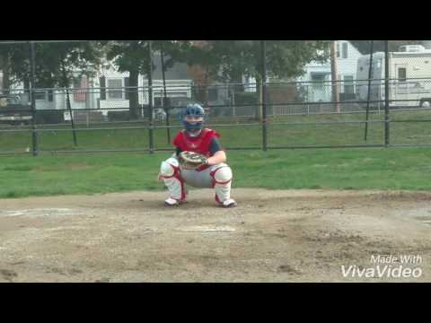 14 yr old Catcher3B  Gary Collins Jr College Prospect 2021 5'7 170 lb.   PoP Time 2.1