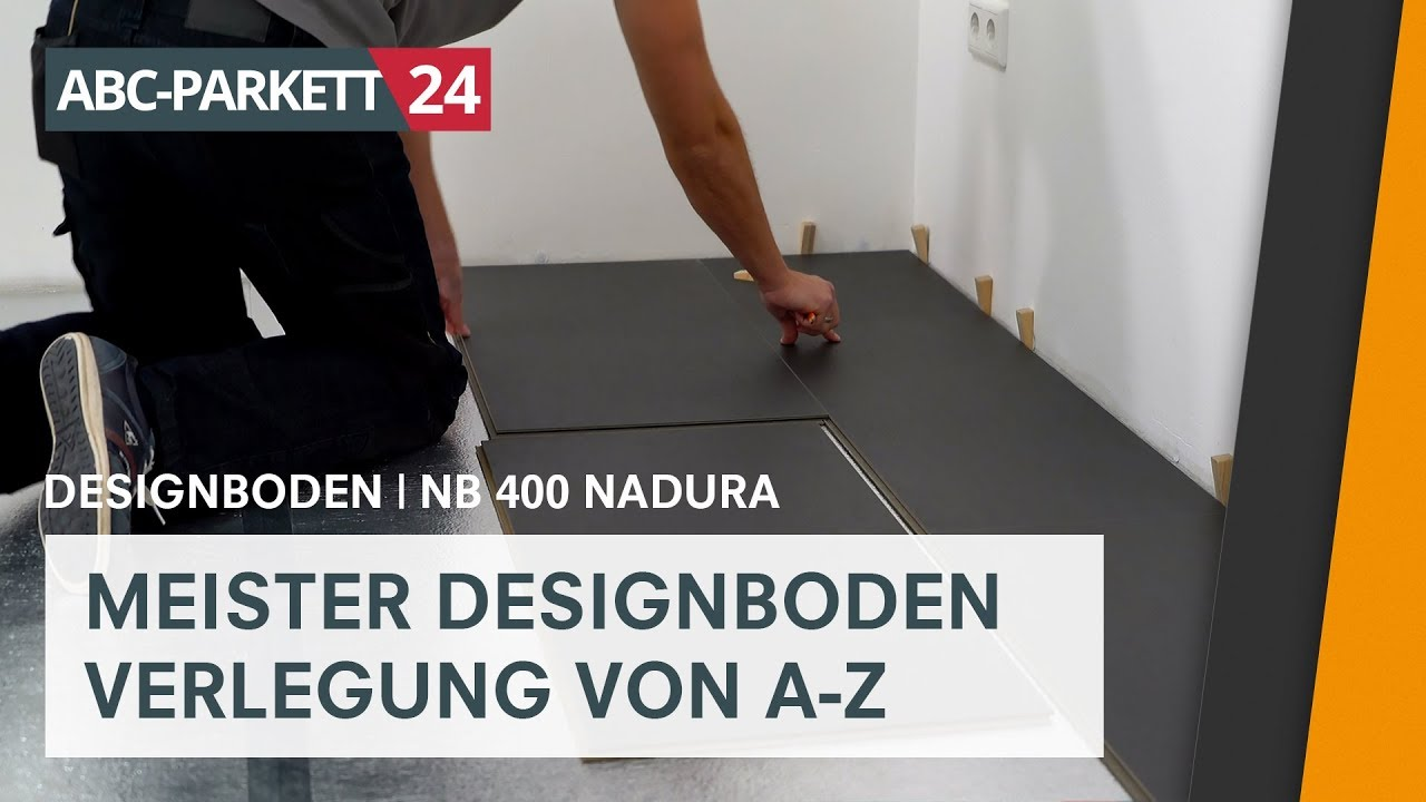 meister designboden nadura nb 400 richtig verlegen youtube. Black Bedroom Furniture Sets. Home Design Ideas