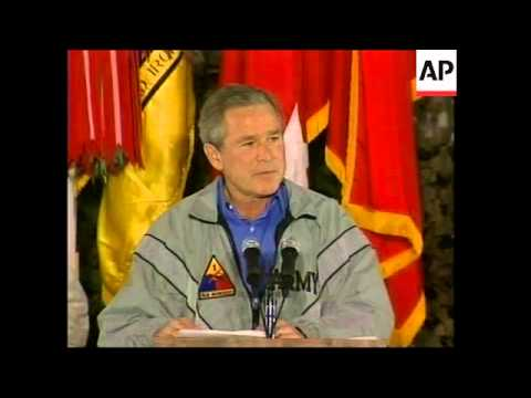 President Bush makes surprise visit to US troops in Iraq - 2003 Mp3
