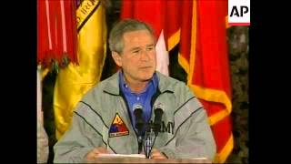President Bush makes surprise visit to US troops in Iraq - 2003