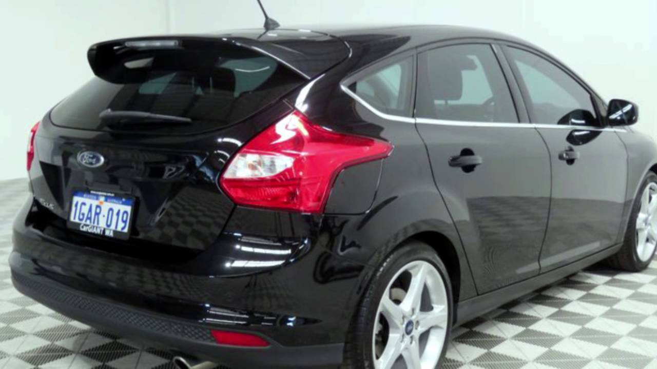 2012 ford focus lw mk2 titanium black 6 speed automatic hatchback youtube. Black Bedroom Furniture Sets. Home Design Ideas